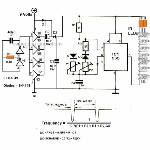 infrared ir led flood light circuit diagram homemade circuit