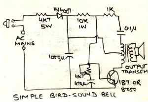 Simple Bird Sound generator Circuit   Homemade Circuit
