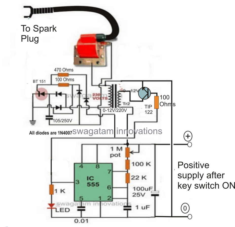 electric fence circuit diagram diy how to draw a for math homemade charger energizer projects please increase the tip122 base resistor value 10k reducing increased dissipation from transistor