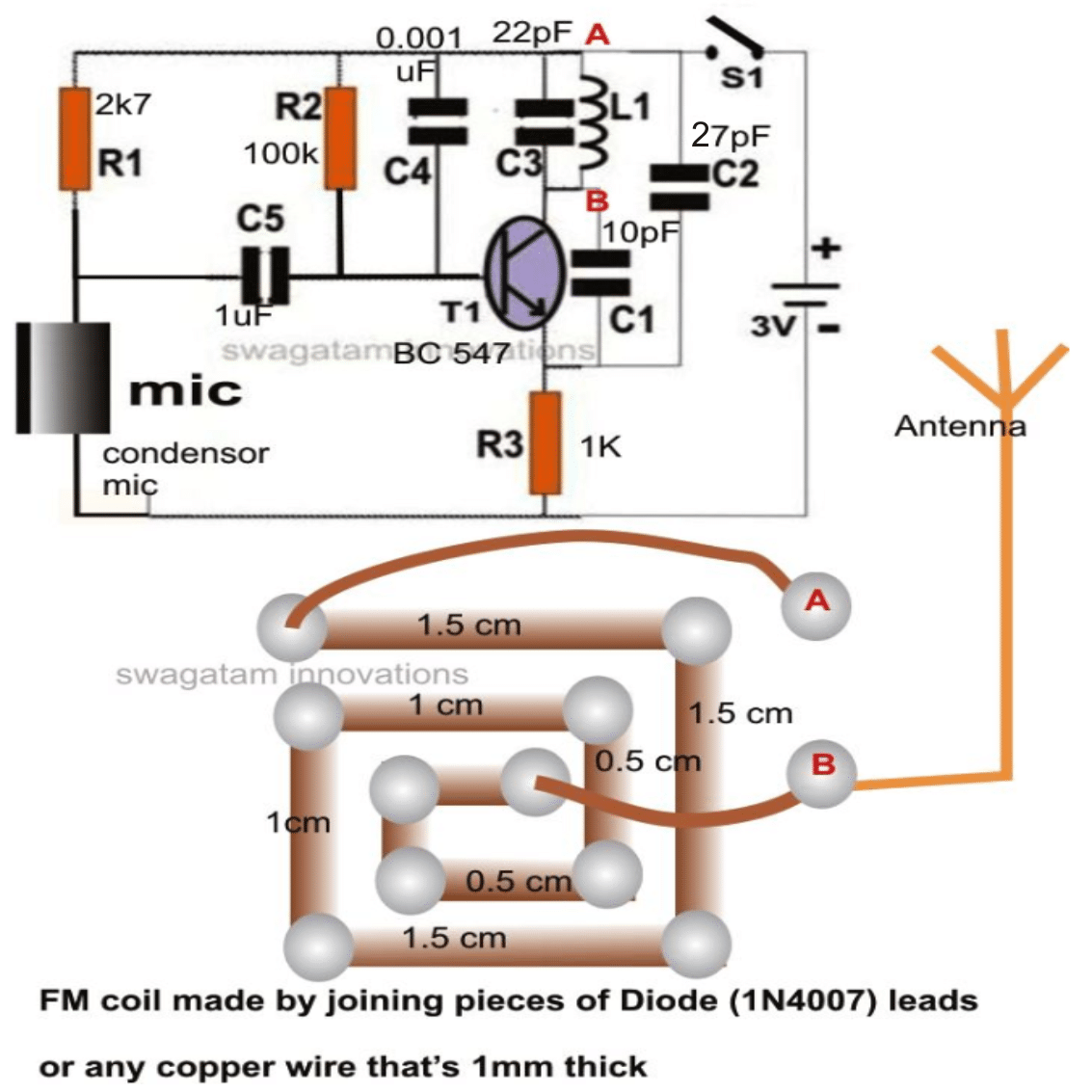 fm wireless microphone circuit diagram 1984 honda spree wiring design and functioning homemade
