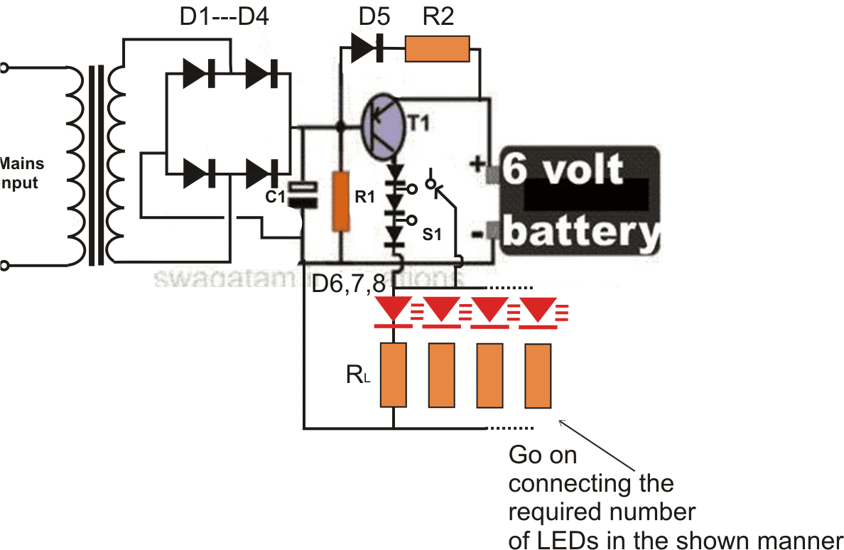 circuit diagram without transformer