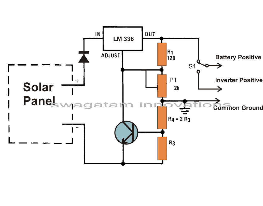 solar battery charging circuit diagram