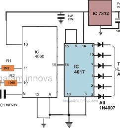 ic 4060 ic 4017 led bar graph brake light [ 1233 x 1000 Pixel ]