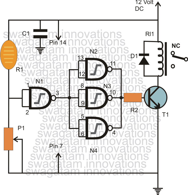 Light Activated Day Night Switch Circuit