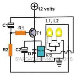 3 Pin Electronic Flasher Relay Wiring Diagram 1993 Ford Ranger Xlt Radio Simple Hobby Circuit Projects | Homemade