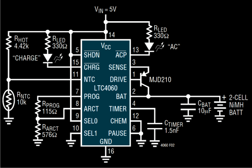 small resolution of nimh nicd battery charger circuit homemade circuit projects nimh battery charger circuit diagram using ltc4060