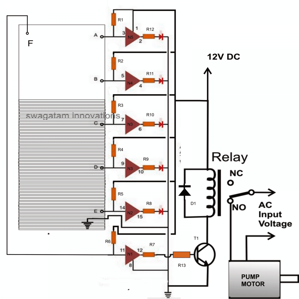 liquid level controller circuit diagram winnebago itasca wiring diagrams led water indicator with relay