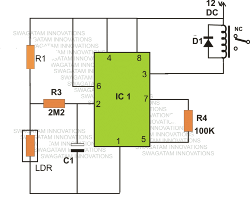small resolution of 4 automatic day night switch circuits explained homemade circuit night lamp switch circuit light activated switch circuit diagram