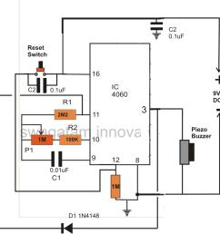 simple timer circuit using ic 4060 homemade circuit projects simple timer circuit simple timer schematic [ 900 x 927 Pixel ]