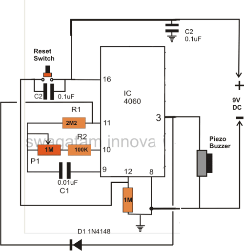 small resolution of simple timer circuit using ic 4060 homemade circuit projects simple timer circuit simple timer schematic