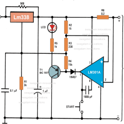Circuit Diagram Of Phone Charger Kia Rio 2003 Stereo Wiring Automatic 12 Volt Battery Using Ic Lm 338