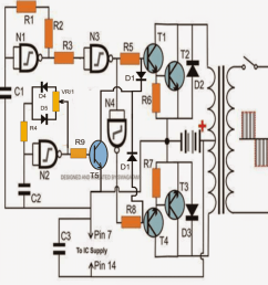 ic 4049 nand gate based modified sinewave inverter circuit [ 880 x 896 Pixel ]