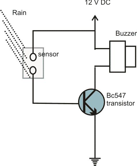 electronic circuit rain sensor