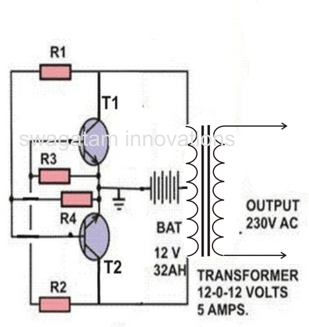 medium resolution of simple cross coupled inverter circuit 60 watt
