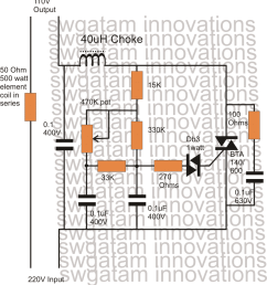 the circuit is based on the regular light dimmer switch circuit principle where the input [ 860 x 926 Pixel ]