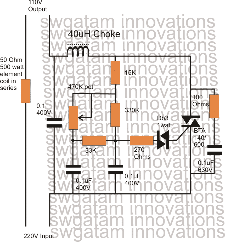 medium resolution of the circuit is based on the regular light dimmer switch circuit principle where the input