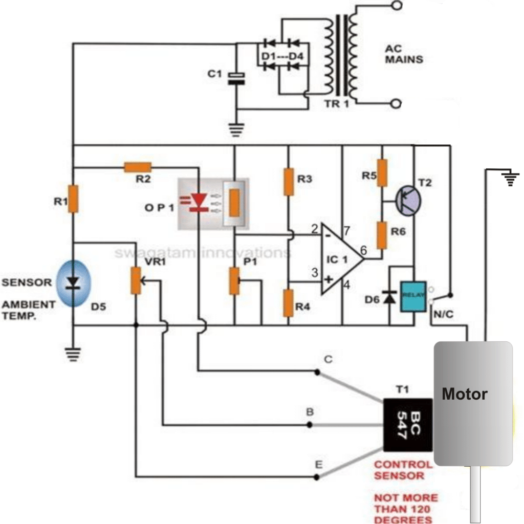 motor winding thermistor wiring diagram electric trailer breakaway dc protector  voltage and heat protection