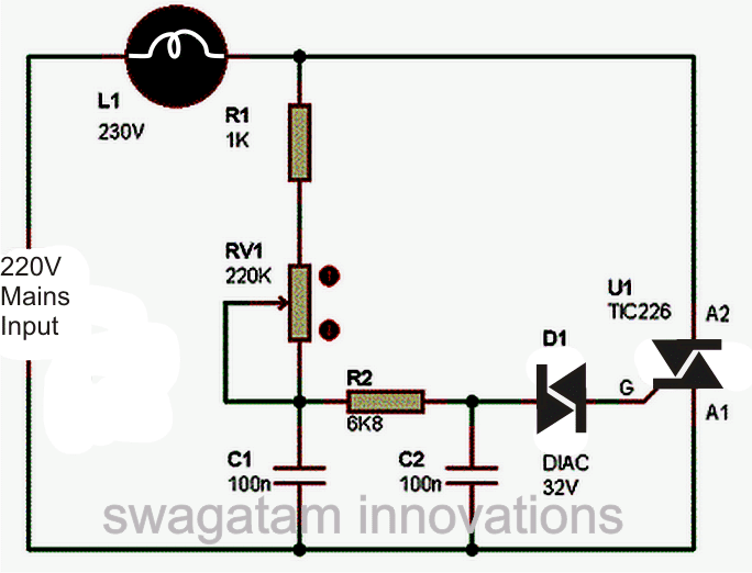 ceiling fan circuit diagram capacitor toyota 1jz gte wiring simple light dimmer and regulator switch | homemade projects