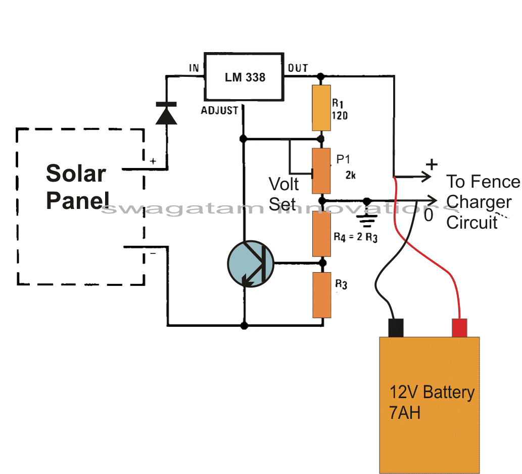 hight resolution of make this solar powered fence charger circuit homemade circuit electric fence circuit diagram fence charger schematic fences