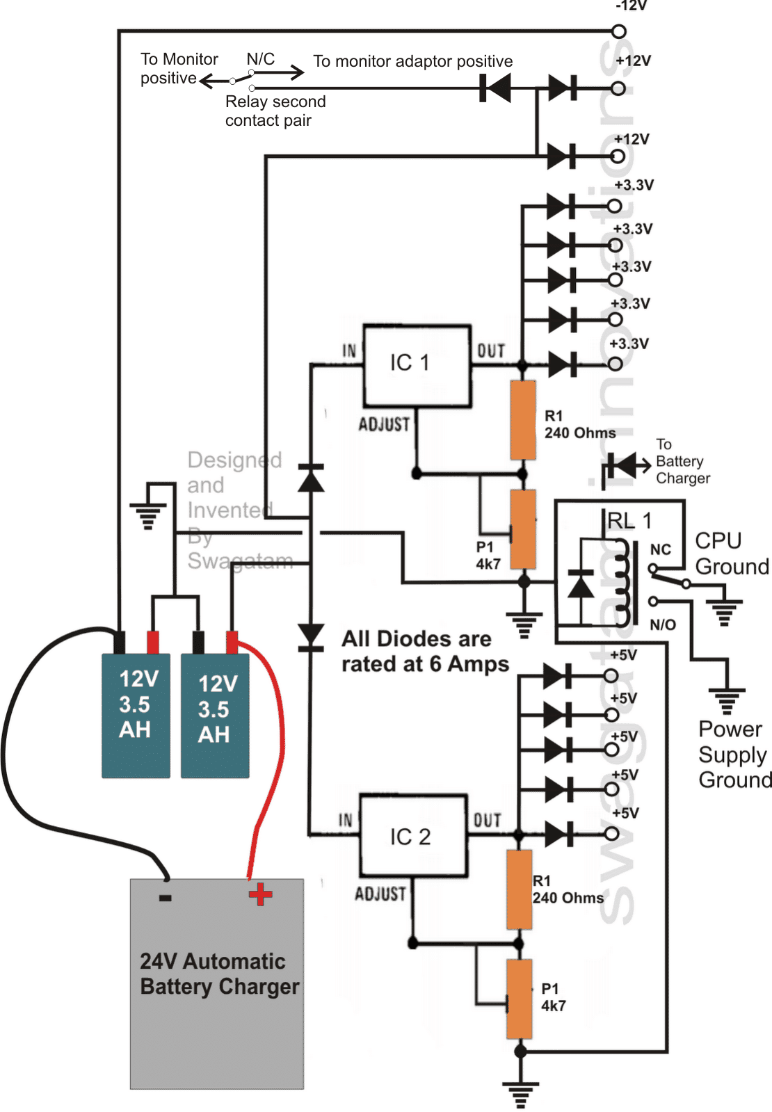 simple ups circuit diagram