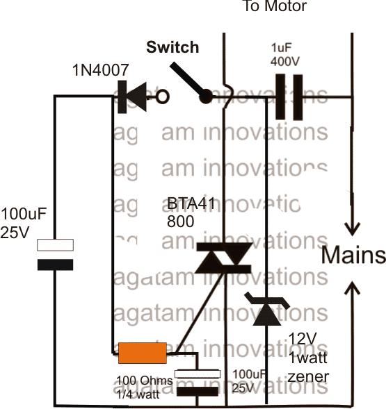 motor stop start circuit
