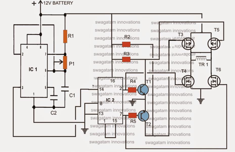 H-Bridge Inverter Using 4 N-channel Mosfets