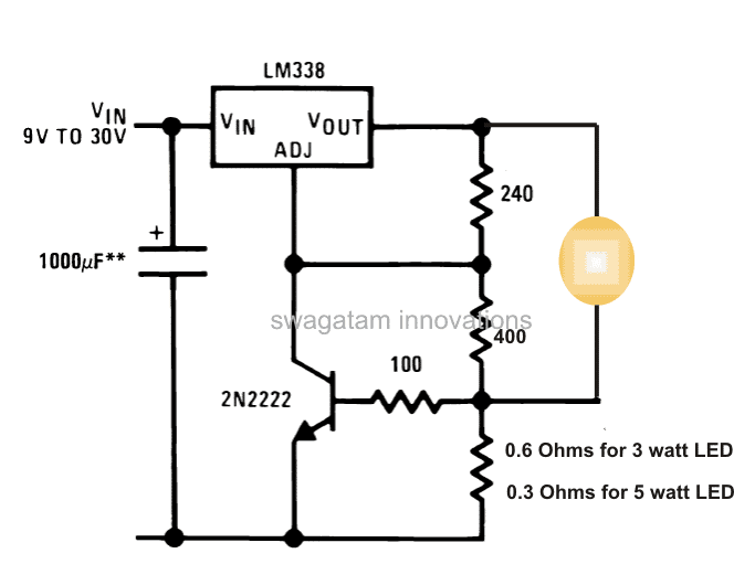3 Watt, 5 Watt LED DC to DC Constant Current Driver