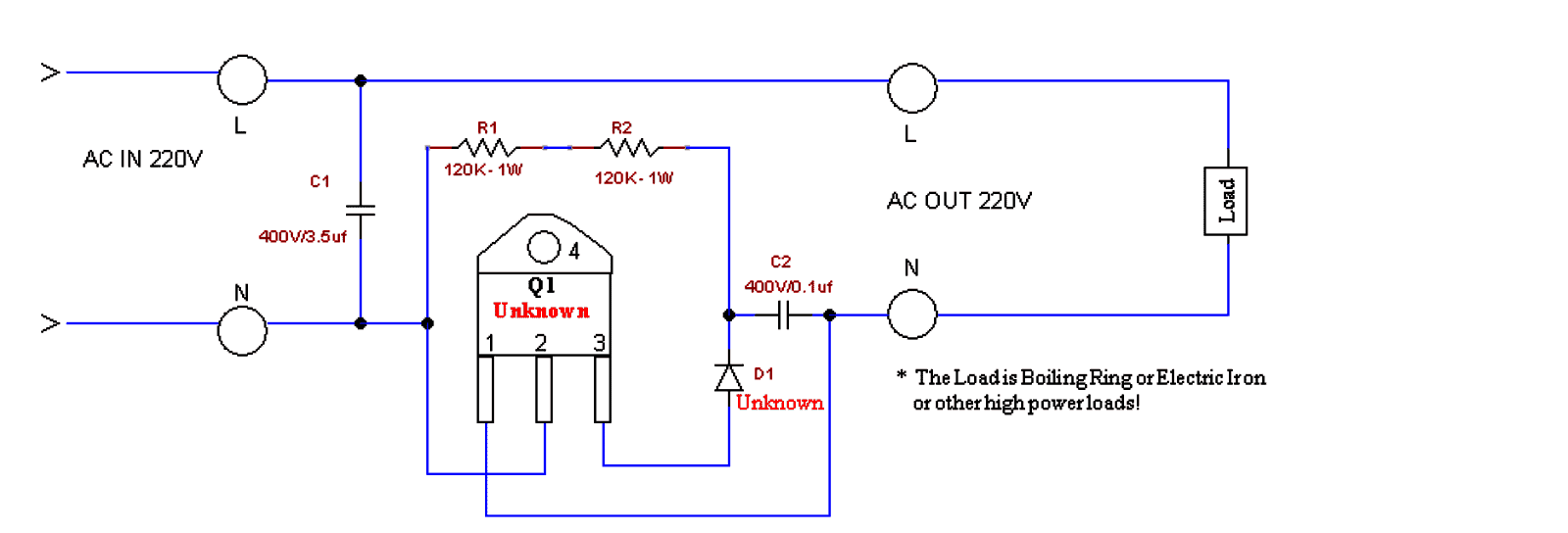 Simple Boost Converter Circuit Schematic
