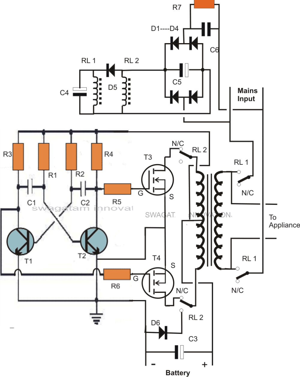 medium resolution of inverter charger circuit diagram