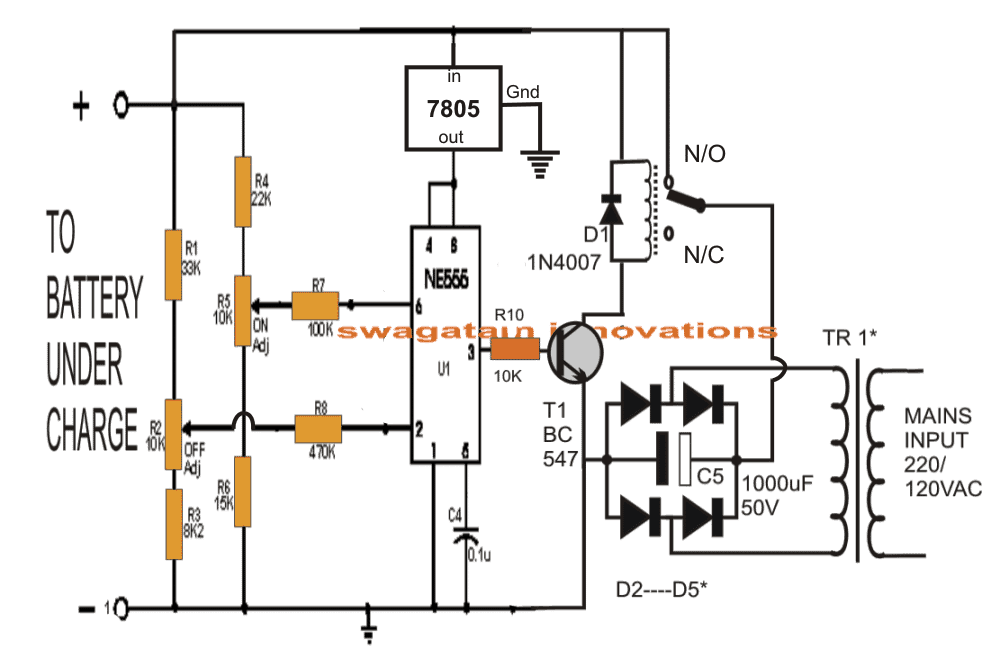 automatic power off charger circuit powersupplycircuit circuit