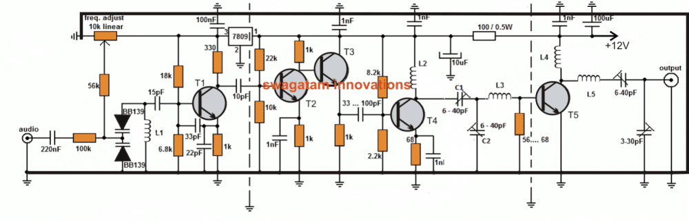 1000 Watts Power Amplifier Schematic Diagrams Long Range Transmitter Circuit 2 To 5 Km Range