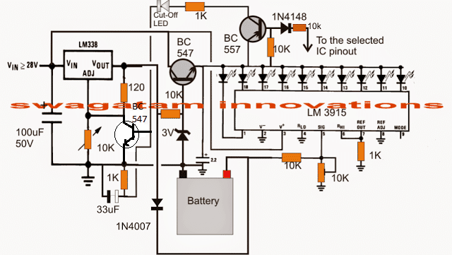9v battery diagram horse trailer electrical wiring 3v, 4.5v, 6v, 9v, 12v, 24v, automatic charger with indicator | homemade circuit projects