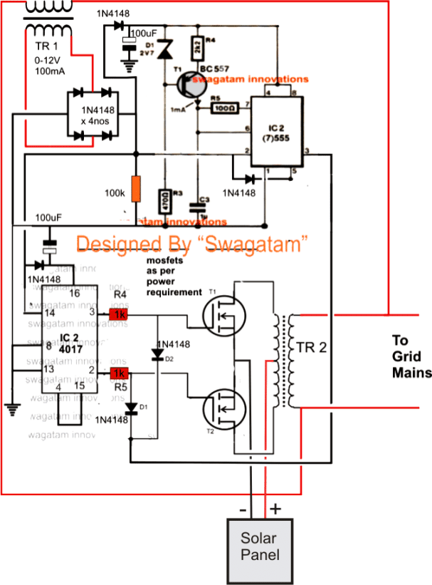 Mercruiser Wiring Diagrams Homemade 100va To 1000va Grid Tie Inverter Circuit
