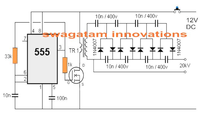 Wiring Diagram For Stun Flashlight Flashlight Circuit
