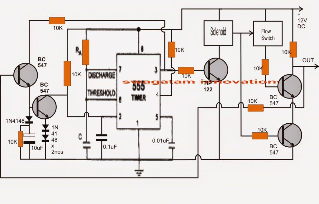 Customized Water Flow Controller with Timer Circuit