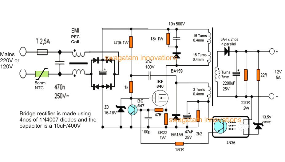 12v dc motor diagram