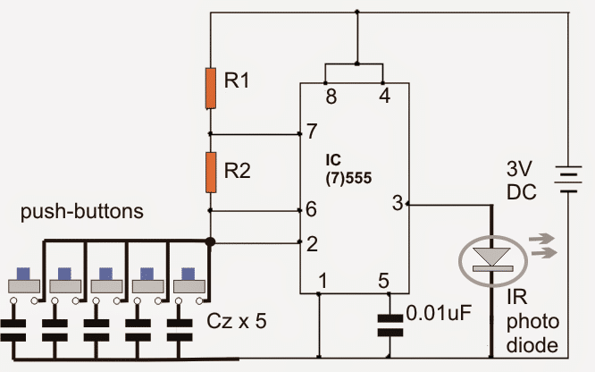 remote control circuit for multiple appliances homemade circuit