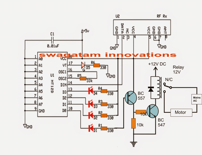 Remote Controlled, Wireless Water Level Controller Circuit