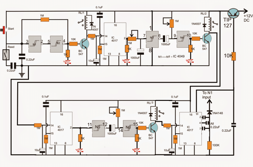 Industrial Tank water fill/drain controller Circuit