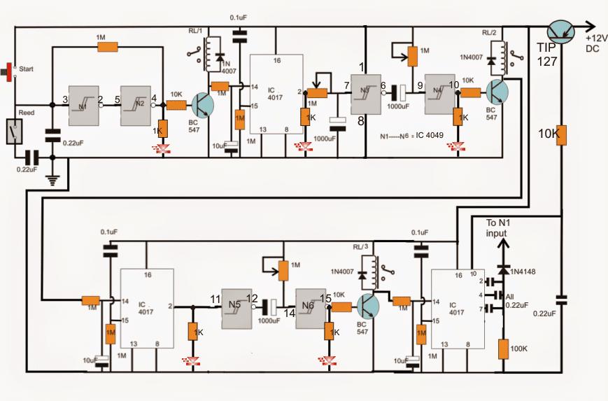 Industrial Tank water fill/drain controller circuit