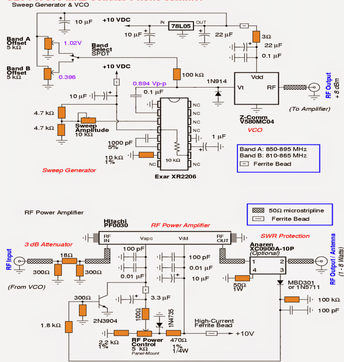 Mobile Network Jammer Circuit Diagram Circuit And Schematics Diagram