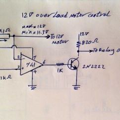 12 Volt Wiring Diagrams John Deere Stx38 Lawn Tractor Diagram How To Protect Motor From Over Current Using A Single Opamp   Homemade Circuit Projects