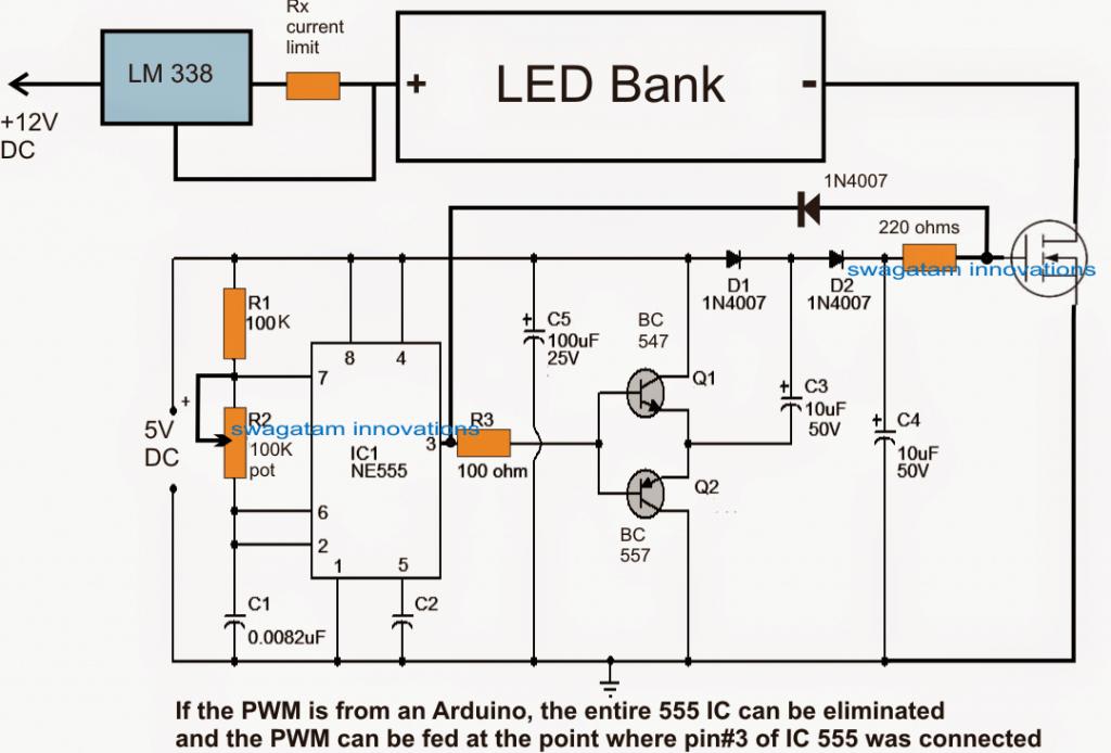 pwm schematic 555
