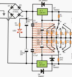 adjustable 3v 5v 6v 9v 12v 15v dual power supply homemade 6v power supply with 12v relay power supply diagram and circuit [ 1108 x 800 Pixel ]