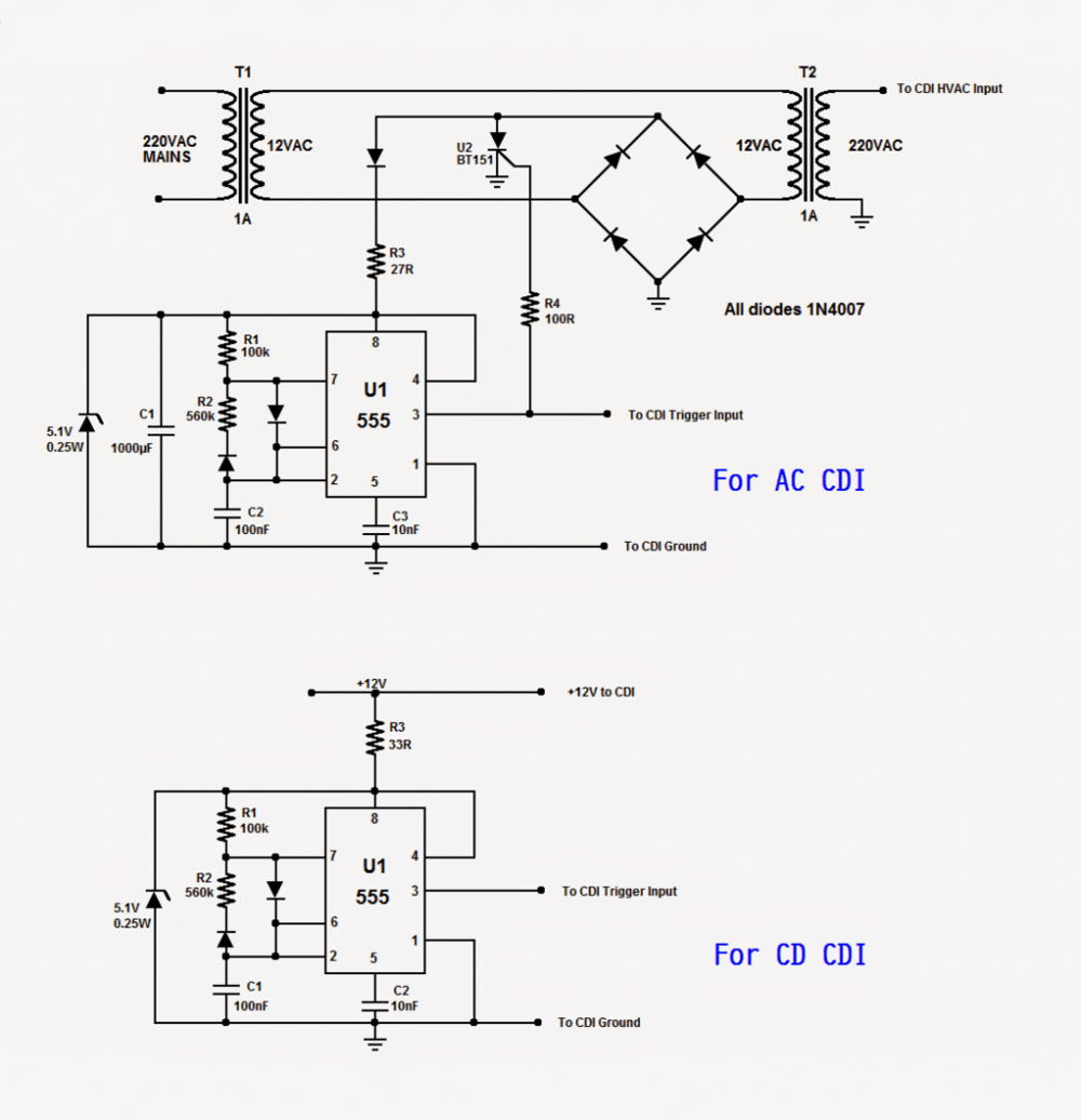rotating beacon led simulator circuit electronic circuit projects