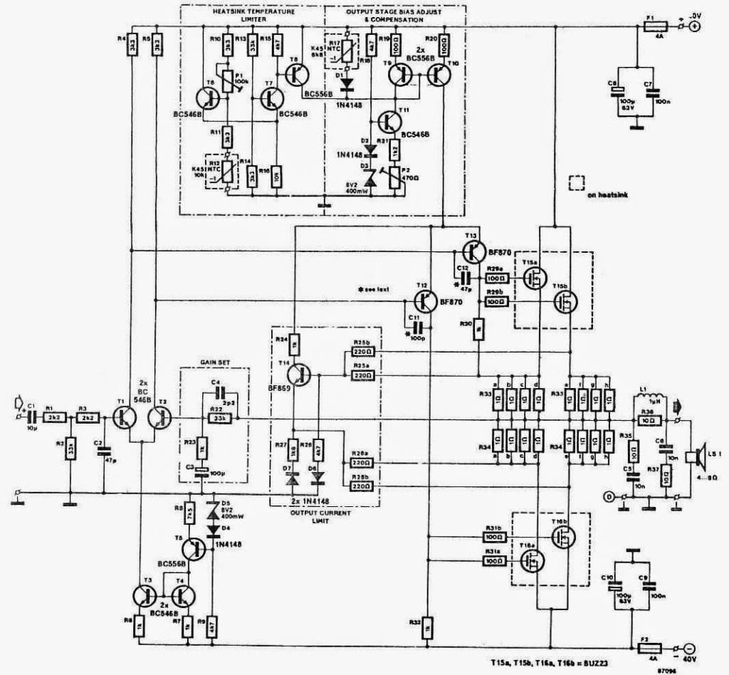 150w Power Amplifier Auto Electrical Wiring Diagram 120w With Lm12 Circuitschematic 100w 250w Circuit