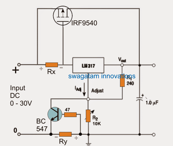 using lm317 with overvoltage protection
