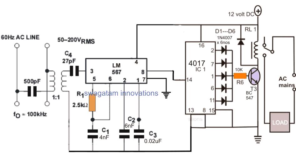 remote control circuits schematic