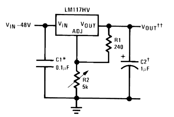 0-60V LM317 Variable Power Supply Circuit