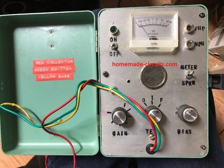 Transistor Tester Circuit Diagram Tradeoficcom